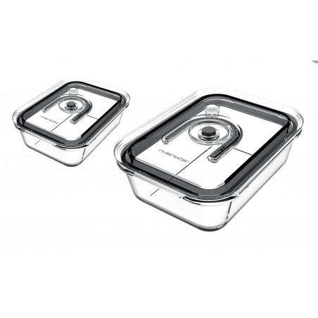 PSV960_Kit de 2 boîtes en verre de conservation sous vide