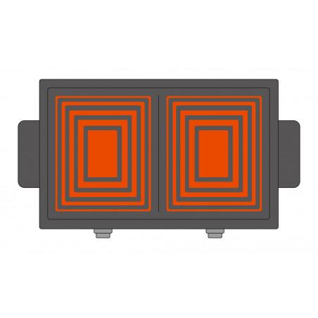 Plancha amovible bi-zone QPL 650 illustration de chauffe