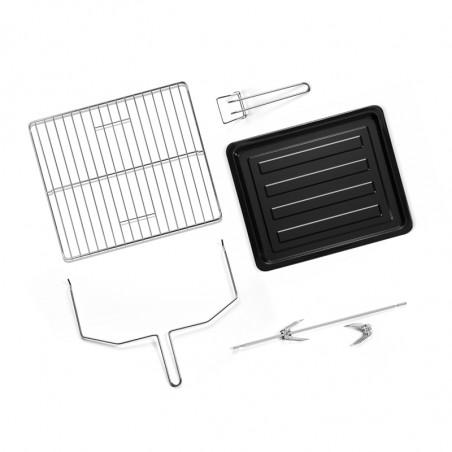 QFR460_Accessoires inclus : grille de cuisson, lèchefrite, pince, tournebroche et poignée tournebroche